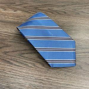 Brooks Brothers Blue w/ Navy & White Stripe Tie